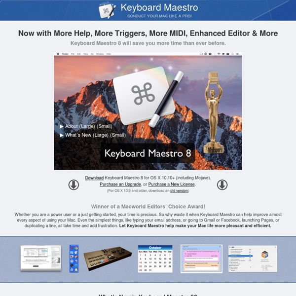 Keyboard Maestro 4.3.2: Work Faster with Macros for Mac OS X