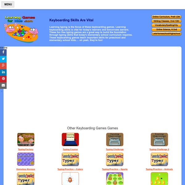Keyboarding Games - Typing Adventure Level 1