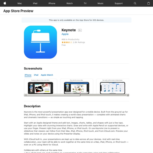 Keynote on the App Store