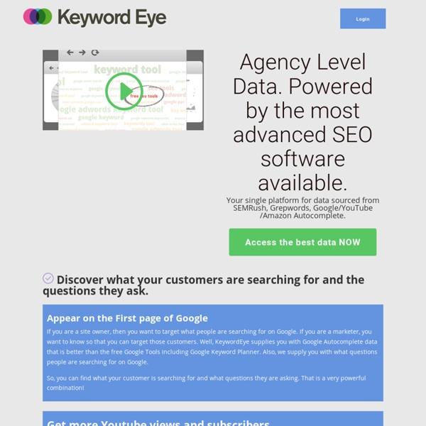 Keyword Eye : Visual Keyword Suggestion Tool PPC, SEO, Niche Finder