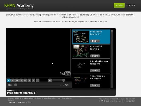 KHAN ACADEMY : apprendre sans limite 100% gratuitement en vidéo !