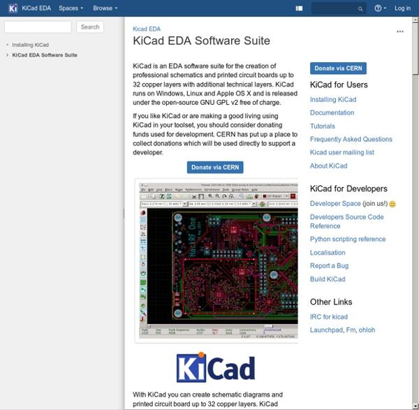 KiCad EDA Software Suite - Kicad EDA - KiCad EDA