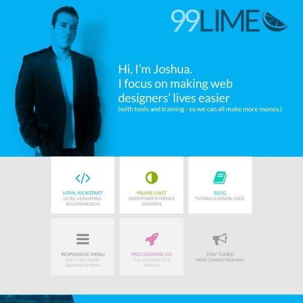HTML KickStart - Ultra–Lean HTML Building Blocks for Rapid Website Production - KickStart your Website Production - 99Lime.com