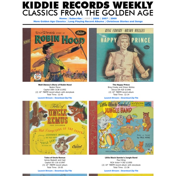 Kiddie Records Weekly