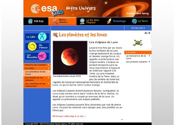 Kids - Notre Univers - Les éclipses de Lune