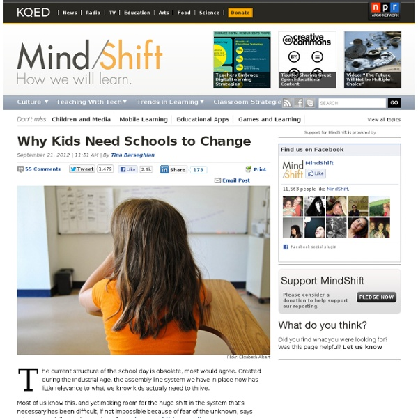 Why Kids Need Schools to Change