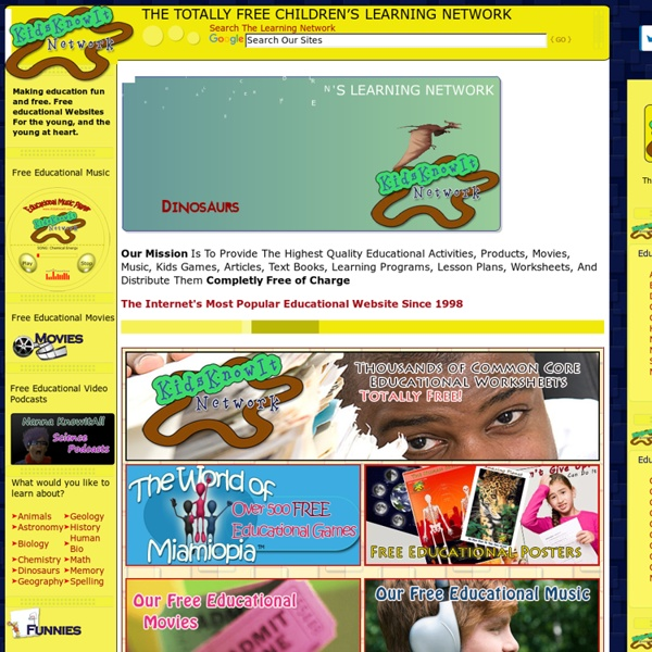 Internet's Most Popular Educational Website For Kids - Thousands of Free Educational Games And Activities