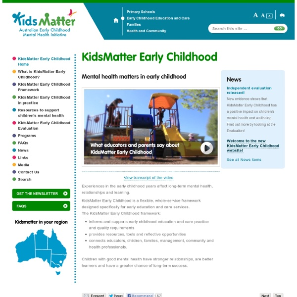 KidsMatter Early Childhood