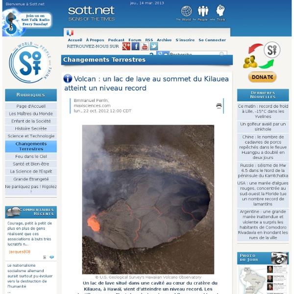 Volcan : un lac de lave au sommet du Kilauea atteint un niveau record