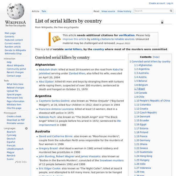 List of serial killers by country