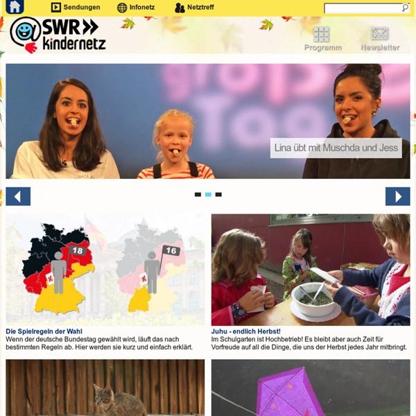 SWR Kindernetz - Kinderseiten des Südwestrundfunks