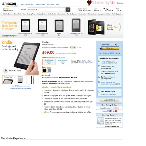 Kindle - Best-Selling Ereader - Only $69