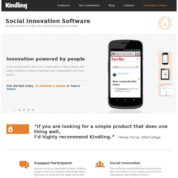 Kindling - Idea Management and Collaboration