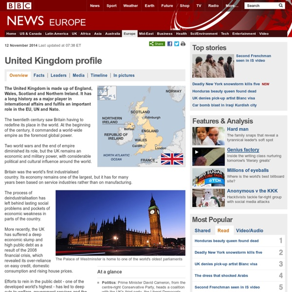 United Kingdom country profile - Overview
