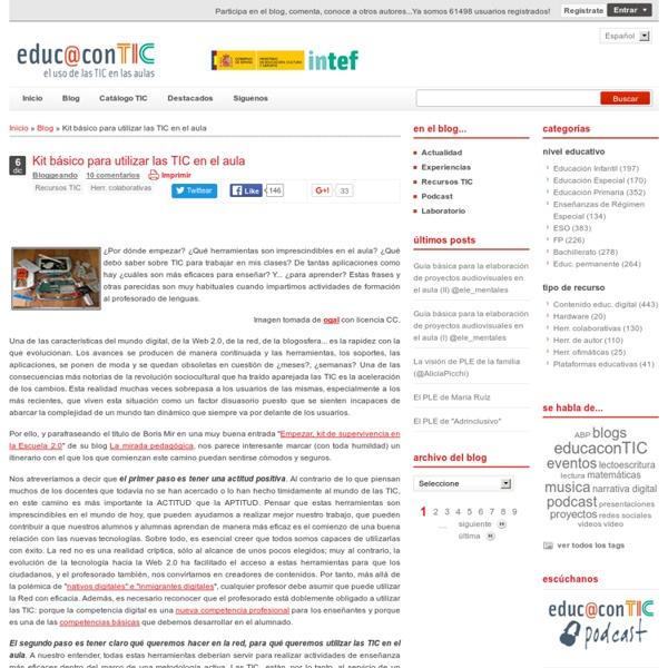 Kit básico para utilizar las TIC en el aula