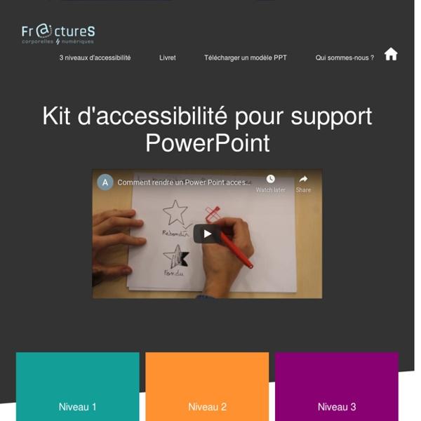 Kit d'accessibilité PowerPoint