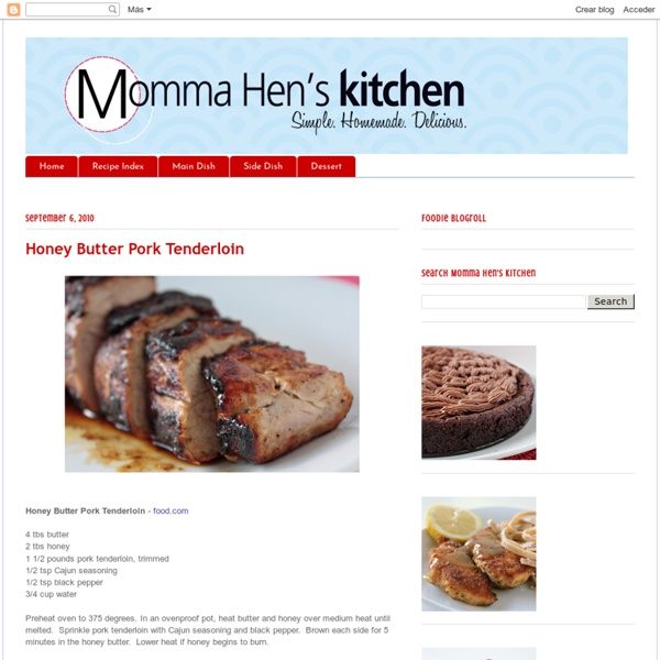 Honey Butter Pork Tenderloin