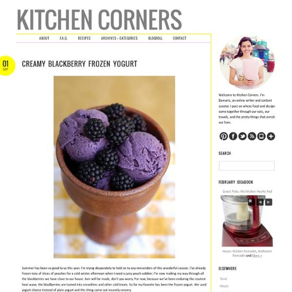 Creamy Blackberry Frozen Yogurt