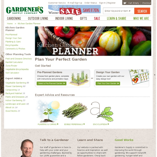 Preplanned Vegetable Gardens by Gardener