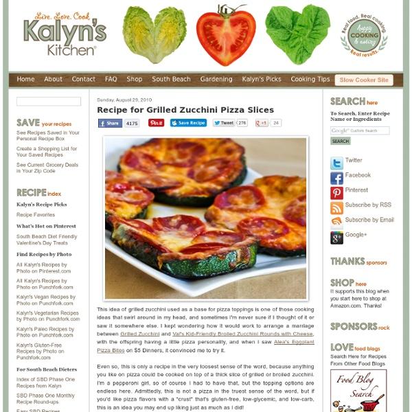 Recipe for Grilled Zucchini Pizza Slices