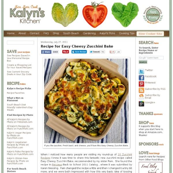 Recipe for Easy Cheesy Zucchini Bake