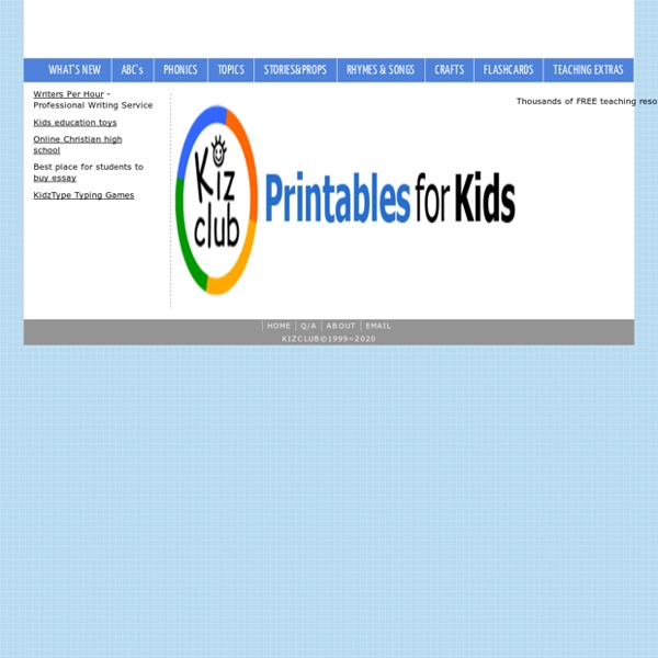 KIZCLUB-Printables for Kids