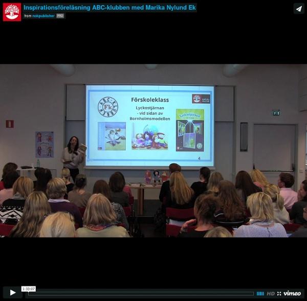 Inspirationsföreläsning ABC-klubben med Marika Nylund Ek from nokpublisher on Vimeo
