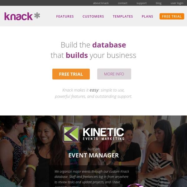 Knack- the easiest online database builder and web app builder framework.