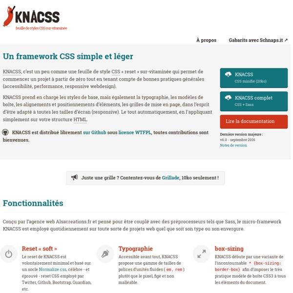 KNACSS, un micro framework CSS qui a du goût !