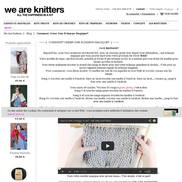 Knitting Kits Comment créer une écharpe magique? / Blog WE ARE KNITTERS