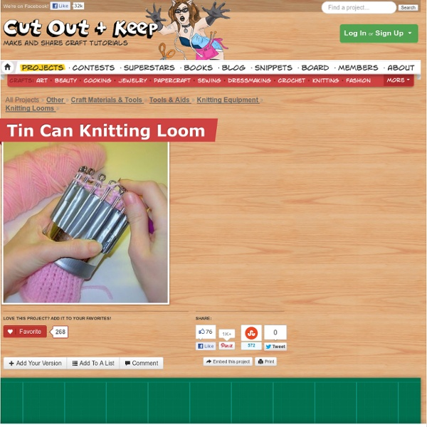 Tin Can Knitting Loom ∙ How To