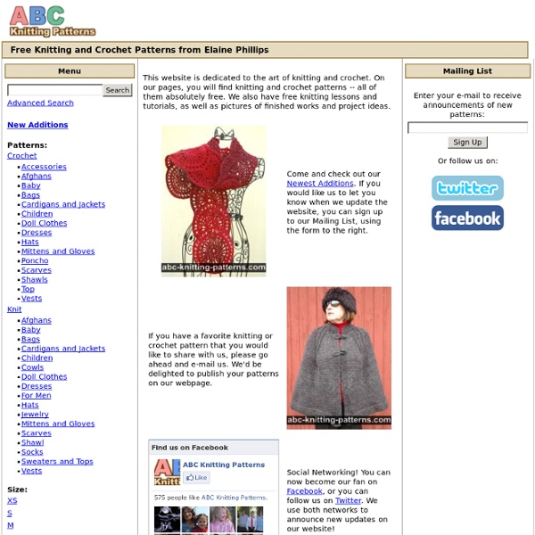 ABC Knitting Patterns - Free Knitting and Crochet Patterns