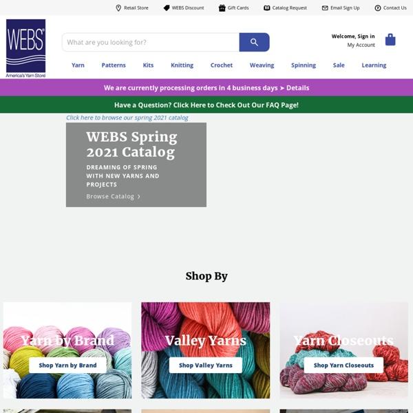 WEBS Yarn, Knitting Yarns, Knitting Patterns, Knitting Needles, Weaving Yarns at Webs