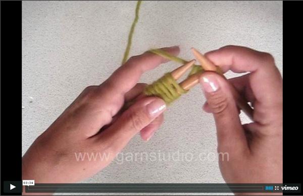 Montage par la pointe : méthode turque