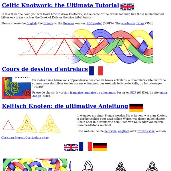 Celtic knotwork, the ultimate tutorial