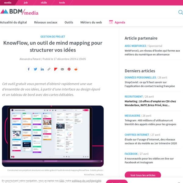 KnowFlow, un outil de mind mapping pour structurer vos idées