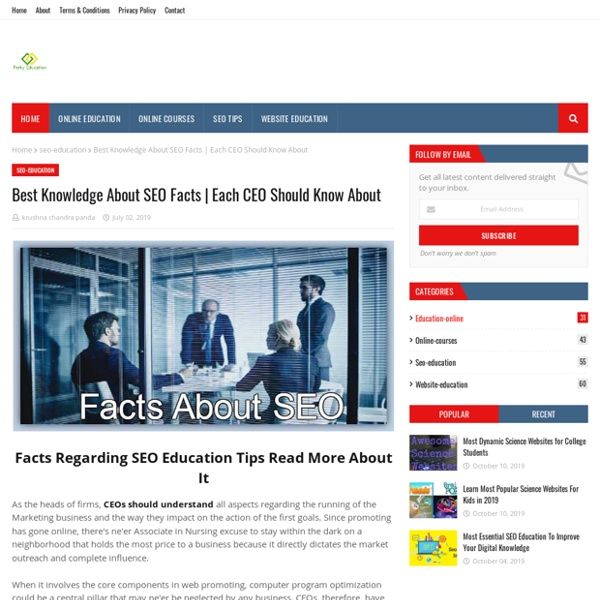 Best Knowledge About SEO Facts