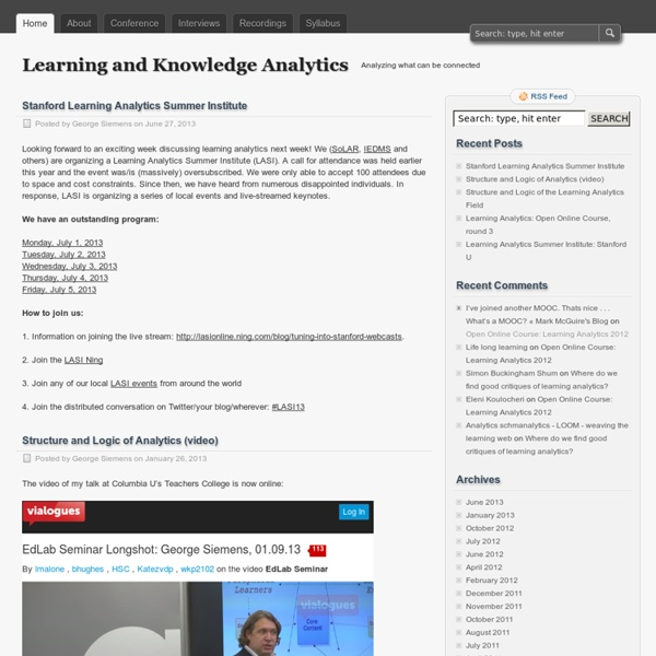 Learning and Knowledge Analytics - Analyzing what can be connected