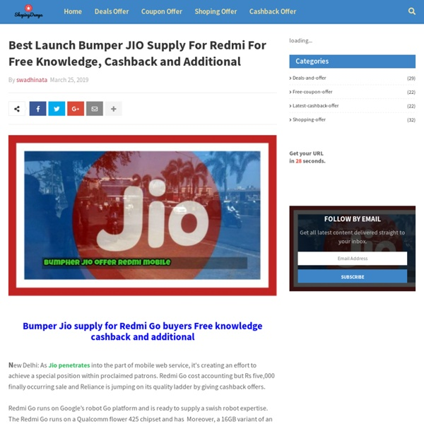 Best Launch Bumper JIO Supply For Redmi For Free Knowledge, Cashback and Additional