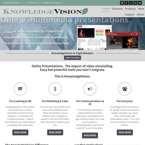 Video Online Presentation Software Tools