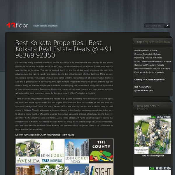 Properties In Kolkata
