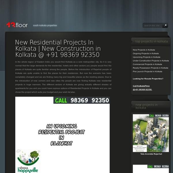 Kolkata New Projects