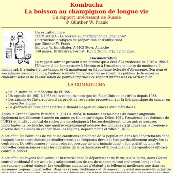 Comboucha : Un rapport intéressant de Russie