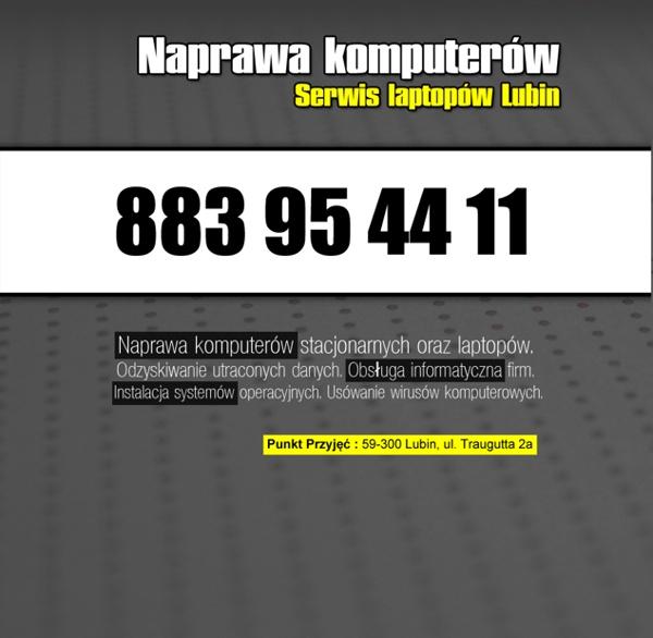 Serwis komputerów Lubin - Naprawa komputerów - Pogotowie komputerowe w Lubinie