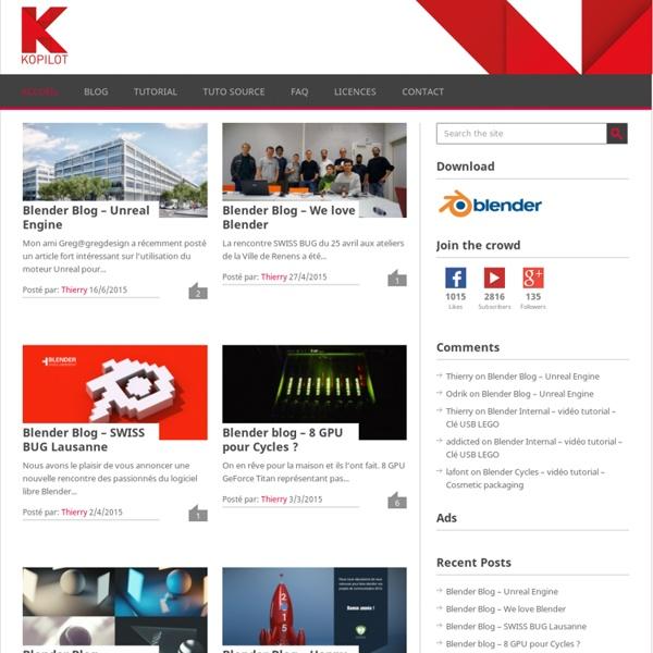 KOPILOT - Tutoriels HD en francais - Video formation - Blender 3D - Accueil