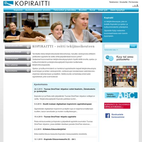 Kopiraitti - Reitti tekijänoikeuteen : Etusivu