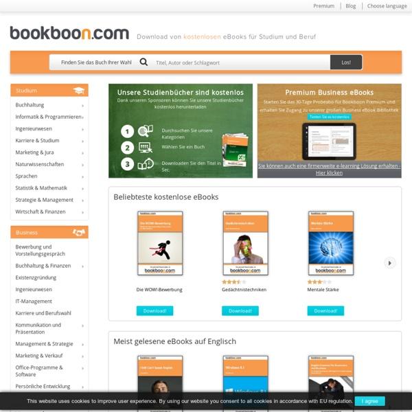 eBooks kostenlos downloaden auf bookboon.com
