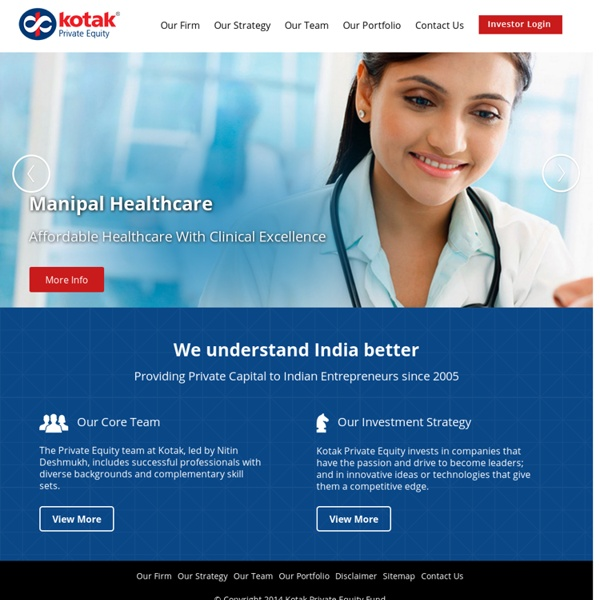 Private Equity Firms in India - Kotak Private Equity