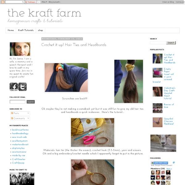 The Kraft Farm: Crochet it up! Hair Ties and Headbands