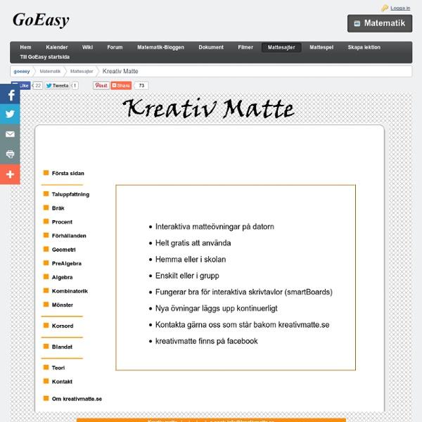 Kreativ Matte - goeasy